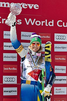 FIS Ski Cross World Cup 2015 Finals - Megève - 20150314 - Anna Holmlund 3.jpg