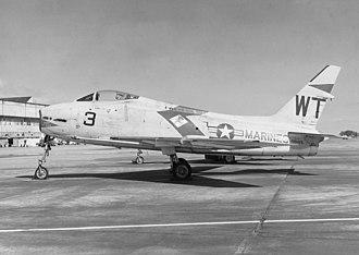 VMFA-232 - An FJ-4B of VMF-232 in 1958.