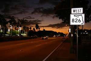 Florida State Road 826 - Northeast 163rd Street in North Miami Beach is also denoted as State Road 826.