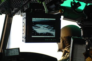 Forward looking infrared - A FLIR system on a U.S. Air Force helicopter during search and rescue operation