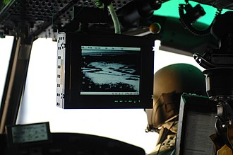 Forward-looking infrared - A FLIR system on a U.S. Air Force helicopter during search and rescue operation