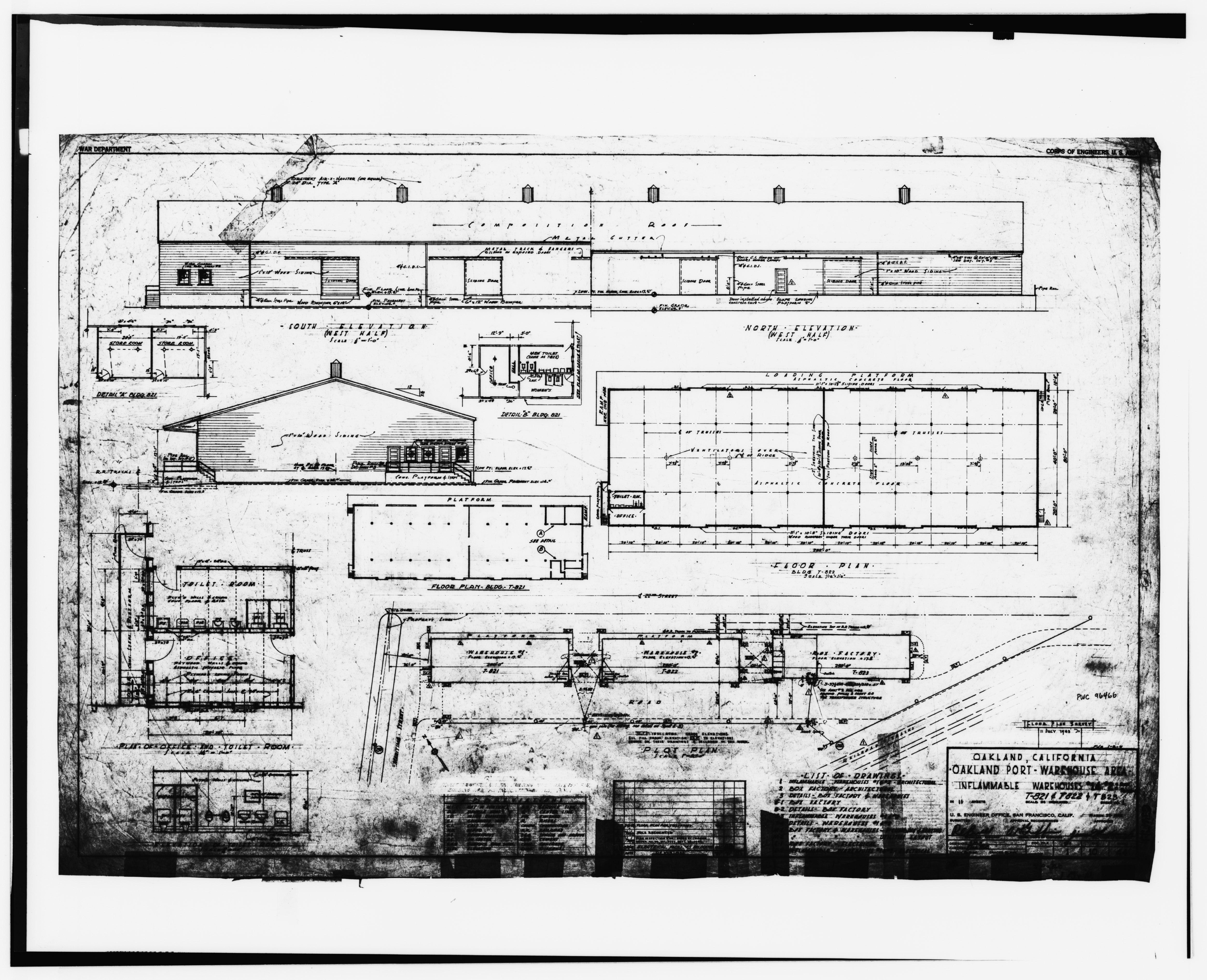 File floor plan plot plan elevations sheet no 1 10 44 for Plot plan drawing