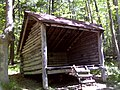 FLT M09 Kankadea Trl 2.0 mi - Kanakadea Lean-to, 11x11' interior, outhouse behind, seasonal stream below - panoramio.jpg