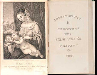 Frederic Shoberl - The title page and frontispiece from the Forget-Me-Not annual for 1823