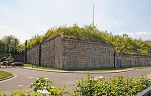 Fort Tompkins (Staten Island) - Southeast corner of the fort in 2016
