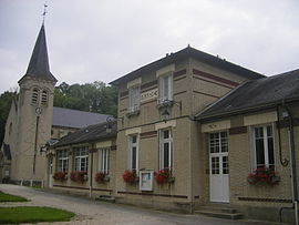 The town hall in Nampcel