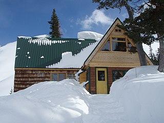 Bill Putnam hut building in British Columbia, Canada