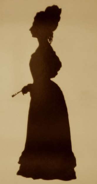 Fanny Brawne - Silhouette of Fanny Brawne, aged 28, 1829.  By Augustin Edouart.