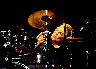 Steve Gadd - Gadd behind his drum kit in 2010