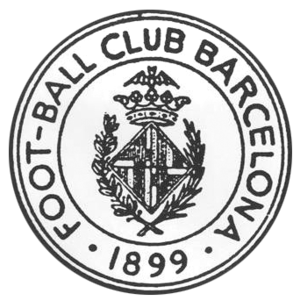 History of FC Barcelona - The first crest worn by Barcelona (1899).