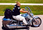 V-Rod with rider