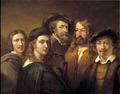 Fem konstnärer (Johan Gustaf Sandberg) - Nationalmuseum - 43107.tif