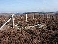 Fence in high moorland. - geograph.org.uk - 1757666.jpg