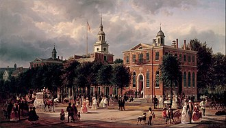 Martin Ignatius Joseph Griffin - Independence Hall in Philadelphia (Ferdinand Richardt, ca. 1858–1863). Griffin was born and died in Philadelphia, and focused most of his research on the Catholic history of the city.
