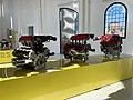 Ferrari engines at the old workshop of Museo Enzo Ferrari, Modena, Italy, 2019, 03.jpg