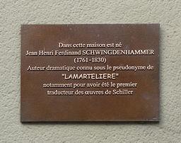 Ferrette-Plaque Lamartelière