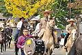 Fiestas Patrias Parade, South Park, Seattle, 2015 - 244 - horses and band (21408836628).jpg
