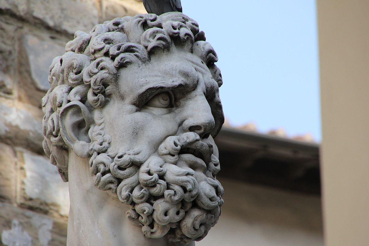 Baccio Bandinelli, Hercules en Cacus (dettaglio Ercole), Piazza della Signoria, Firenze7