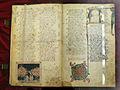 Firenze, commedia di dante, paradiso, 1325-50 (con intregrazioni dei canti VI-XXXIII del xix sec), pluteo 40.15, c 5v, 01.JPG