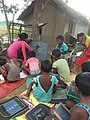 First-generation learner Tribal Girl after completing school education, teaching young children from her village.jpg