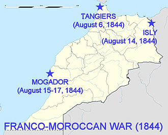 Franco-Moroccan War - Theater of the First Franco-Moroccan War (1844).