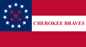 Flag of the Cherokee Nation - The Cherokee Braves Flag, as flown by Stand Watie.