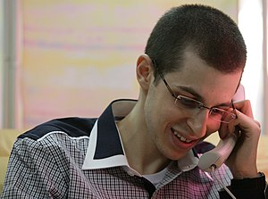 Gilad Shalit - Gilad Shalit on the phone with his parents, after arriving in Israel on 18 October 2011