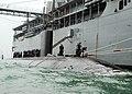 Flickr - Official U.S. Navy Imagery - USS Hampton (SSN 767) moors alongside USS Frank Cable.jpg