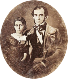 Florencio Varela kaj lia filino en Montevideo, c.1847