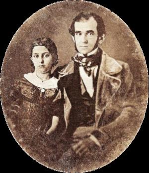Florencio Varela (writer) - Florencio Varela and his daughter in Montevideo, c.1847