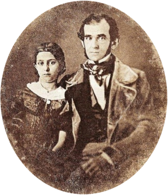 Florencio Varela (writer) - Florencio Varela and his daughter in Montevideo, c.1847