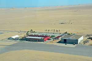 Walvis Bay Airport - Aerial view of Walfis Bay Airport (2017)