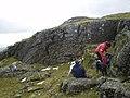 Folded Metamorphic Rock on Ben Lawers in Scotland 2.jpg