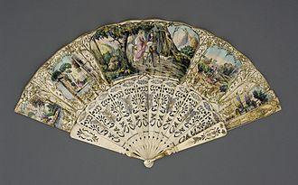 Hand fan - Folding fan from France c. 1850