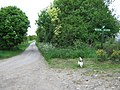 Footpath junction near Elvey Farm - geograph.org.uk - 1291202.jpg