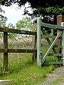 Footpath markers at Brynamlwg near Tregaron, Ceredigion - geograph.org.uk - 1185908.jpg
