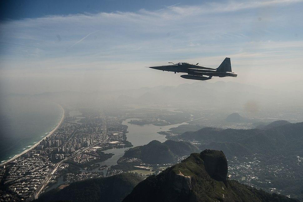 Força Aérea Brasileira (FAB) faz treinamento de interceptação aérea para os Jogos Olímpicos de 2016