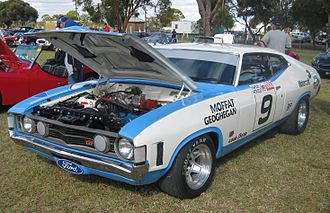 Allan Moffat - Replica of the Ford XA Falcon GT Hardtop in which Moffat and Ian Geoghegan won the 1973 Hardie-Ferodo 1000