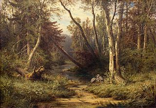 Forest Landscape with Herons
