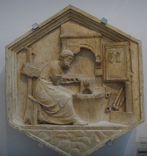 Tubal-cain - Tubal-cain at his forge, by Andrea Pisano, 1334-1336