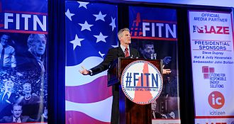 Scott Brown (politician) - Scott Brown speaking at the 2016 First in the Nation (FITN) Town Hall hosted by the New Hampshire Republican Party