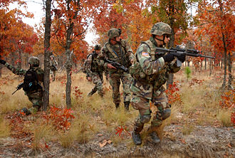 Fort Bragg - Soldiers of the 82nd Airborne Division training on Fort Bragg, December 2005