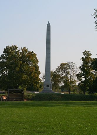 41st (Welch) Regiment of Foot - Memorial to the men who fell during the Siege of Fort Meigs in April 1813