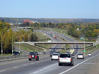 Fort McMurray - Looking north on Highway 63