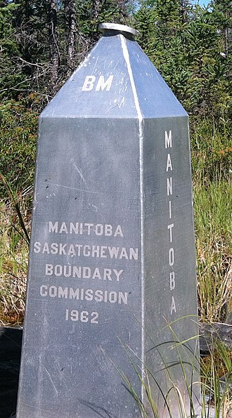 Dominion Land Survey - This monument marks the north end of the Second Meridian