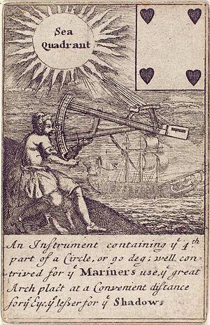 History of engineering - Image: Four of hearts Sea quadrant 1702