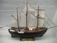 """Modell der """"Fram"""" zur Zeit der Südpolarexpedition von Amundsen"""