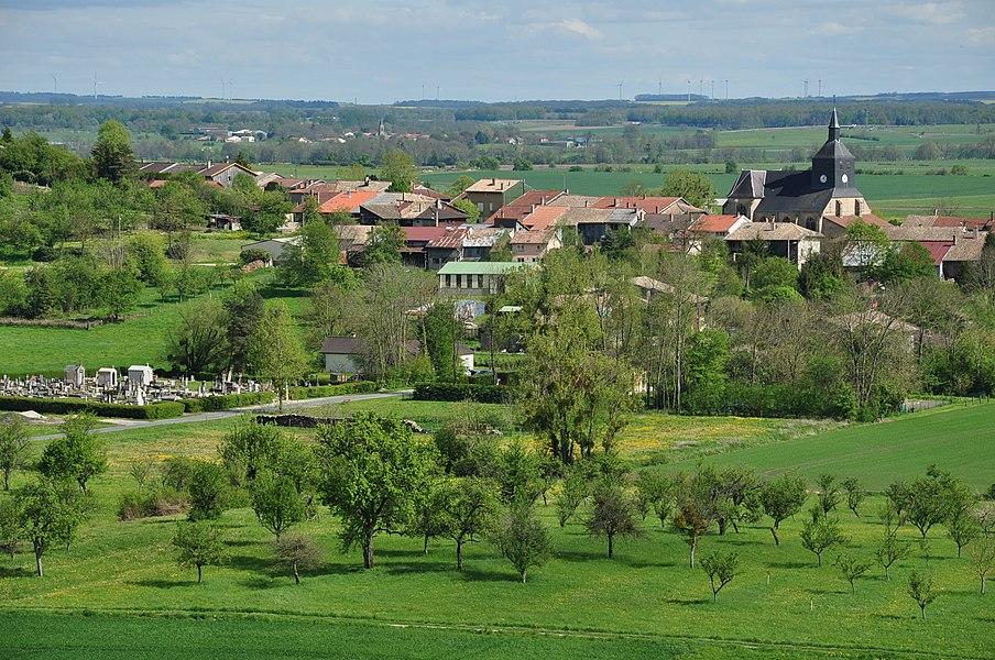 View of Passavant-en-Argonne (Marne department, Champagne-Ardennes region, France).