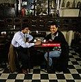 Francescoli marcico tomando cafe 1994.jpg