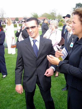 Frankie Dettori - Frankie Dettori in the parade ring at Newmarket after riding in the 2000 Guineas 2005